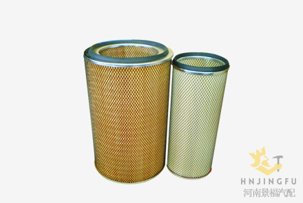 Pingyuan KLX-896/897/K3046/AF25276/AF25277 air filter for Liugong machinery Yutong bus