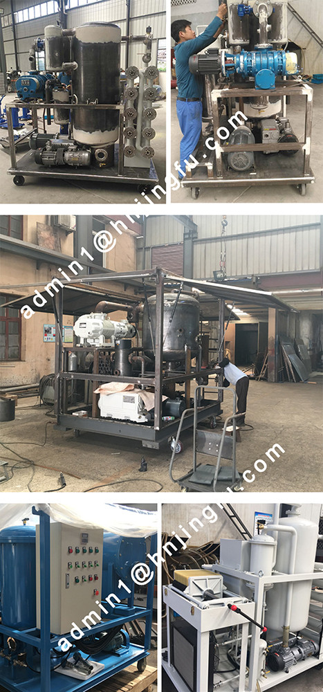 Vacuum oil Purifier filter filtering filtration system Machine factory supplier