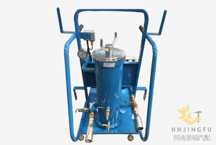 Portable mobile transformer hydraulic oil filter filtering filtration machine cart